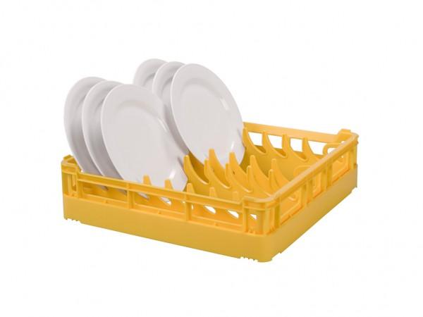 Tellerkorb 500x500mm - für 15 große Teller - Gelb