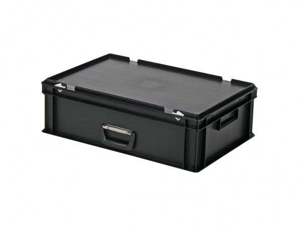 Kunststoffkoffer - 600x400xH185mm - Schwarz