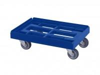 Transportroller - Rollwagen - 600x400mm - Blau 52.TR6040.4.H