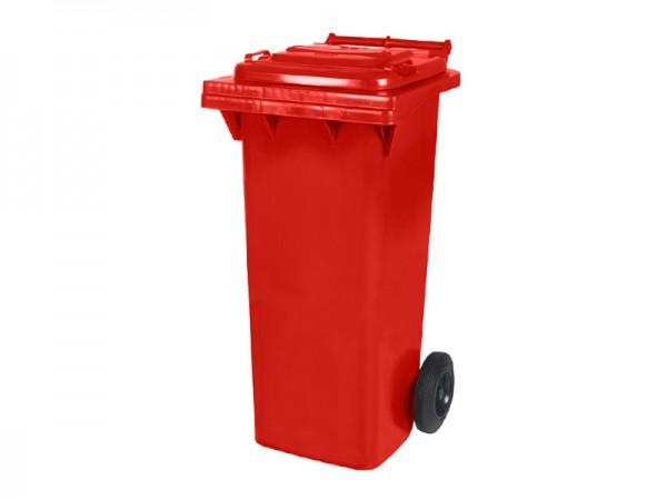 Mülltonne 80 Liter - Rot - 2 Räder - Wertstofftonne - Müllgroßbehälter