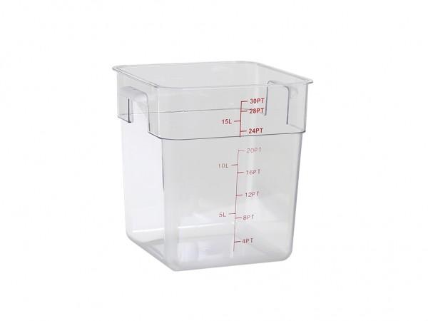 Lebensmittelbox Polycarbonat - 288x288xH317 - 15 Liter
