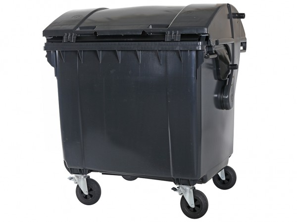 Müllcontainer - 1100 Liter - Schiebedeckel - Grau