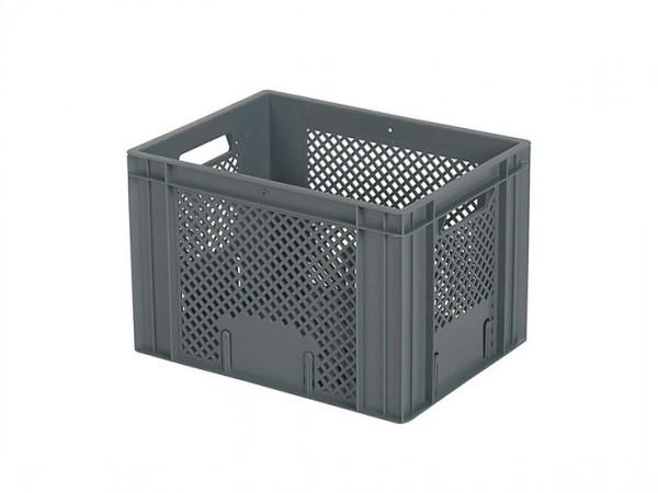 Stapelbehälter 400x300xH272mm - durchbrochen - Grau