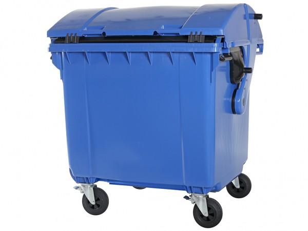 Müllcontainer - 1100 Liter - Schiebedeckel - Blau