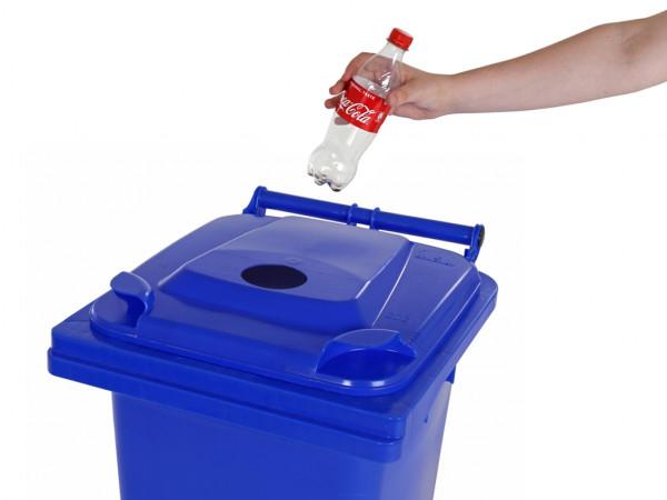 Sammelbehälter für Pfandflaschen - 120 Liter - Blau