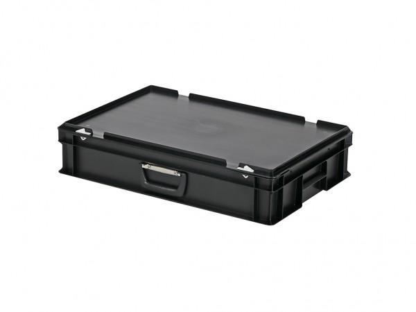 Kunststoffkoffer - 600x400xH135mm - Schwarz