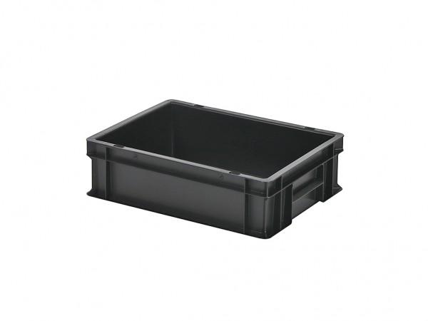 Stapelbehälter - 400x300xH120mm - Schwarz