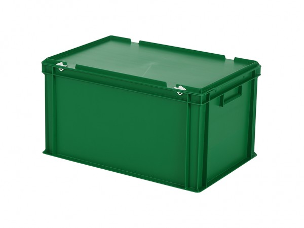 Stapelbehälter mit Deckel - 600x400xH335mm - Grün