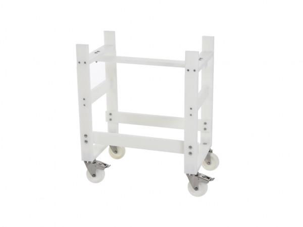 Fahrbares Tischgestell aus Kunststoff