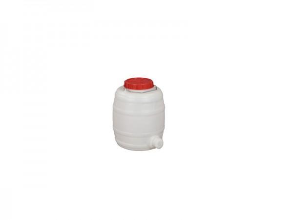 Fass aus Kunststoff mit Auslauf - 15 Liter - Naturweiß
