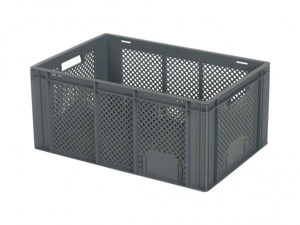 Stapelbehälter 600x400xH274mm - durchbrochen - Grau