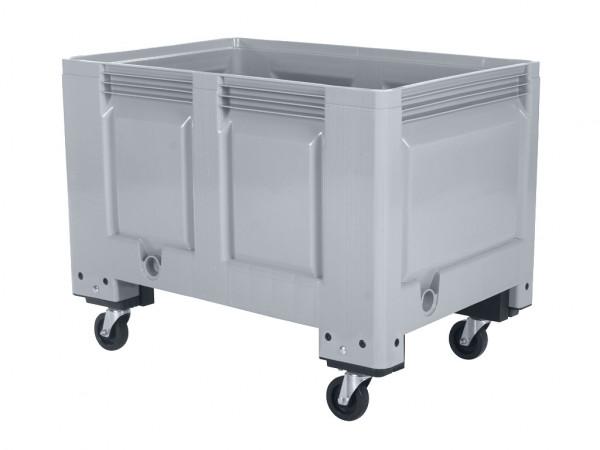 Palettenbox - 1200x800mm - auf Rollen - Grau