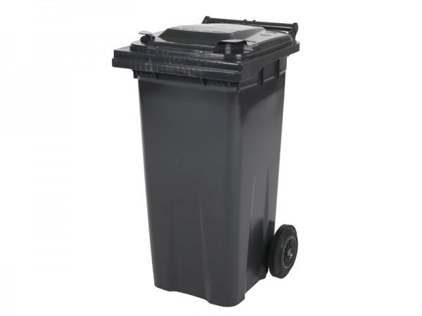 Mülltonne 120 Liter - Grau - 2 Räder - Wertstofftonne - Müllgroßbehälter
