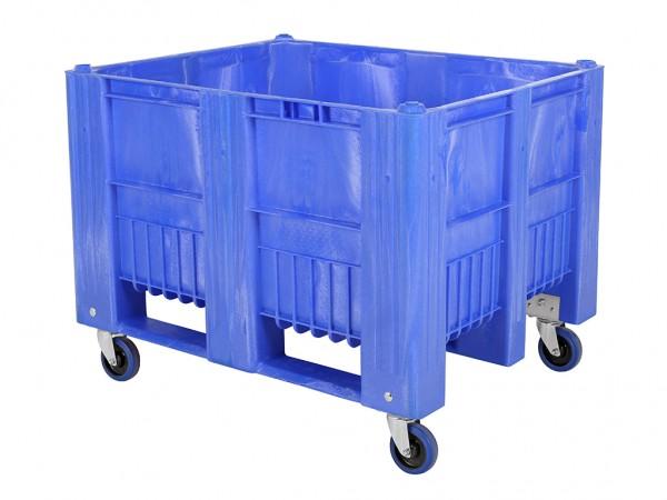 CB3 Palettenbox - 1200x1000mm - auf Rollen - Blau