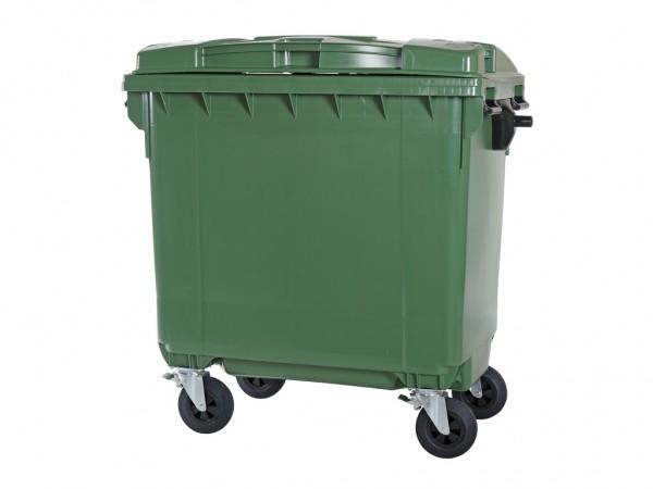 Müllcontainer 770 Liter - 4 Räder - Grün - Müllgroßbehälter