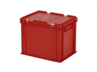 Stapelbehälter mit Deckel - 400x300xH335mm - Rot