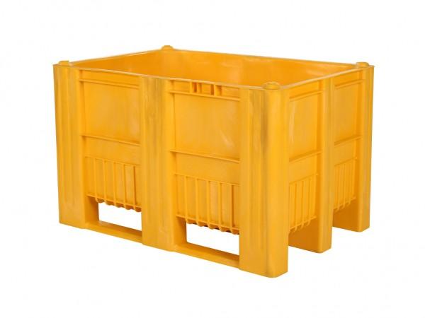 CB1 Kunststoff Palettenbox - 1200 x 800 mm - auf 3 Kufen - Gelb