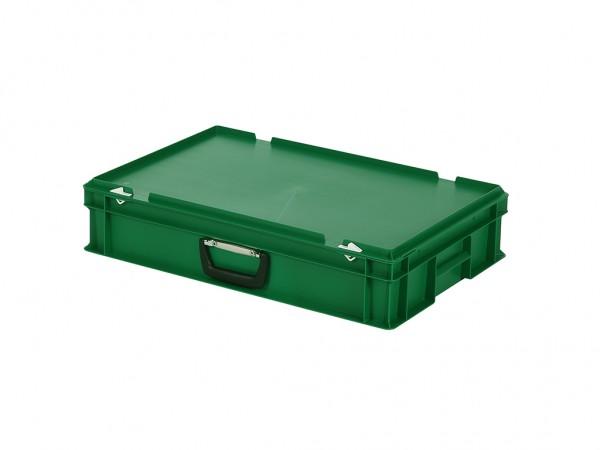 Kunststoffkoffer - 600x400xH135mm - Grün