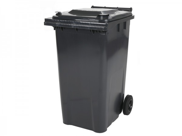 Mülltonne 240 Liter - Grau - 2 Räder - Wertstofftonne - Müllgroßbehälter