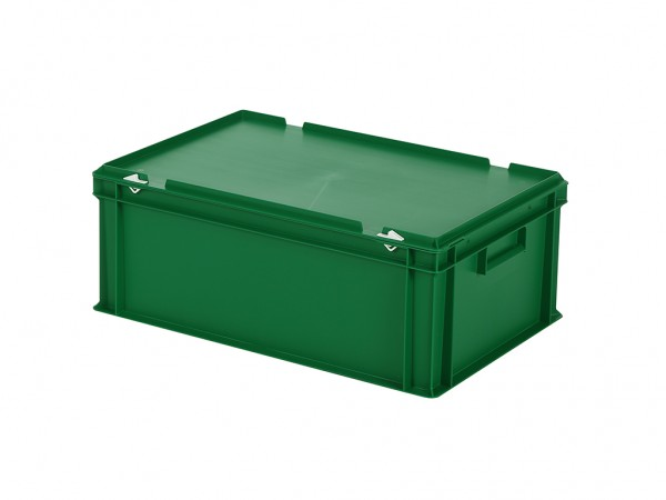Stapelbehälter mit Deckel - 600x400xH235mm - Grün