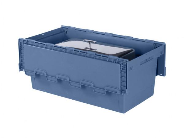 Chafing-Dish Transportbehälter - 800x400xH340mm - Graublau