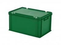 Stapelbehälter mit Deckel - 600x400xH335mm - Grün 30.632.DB.8