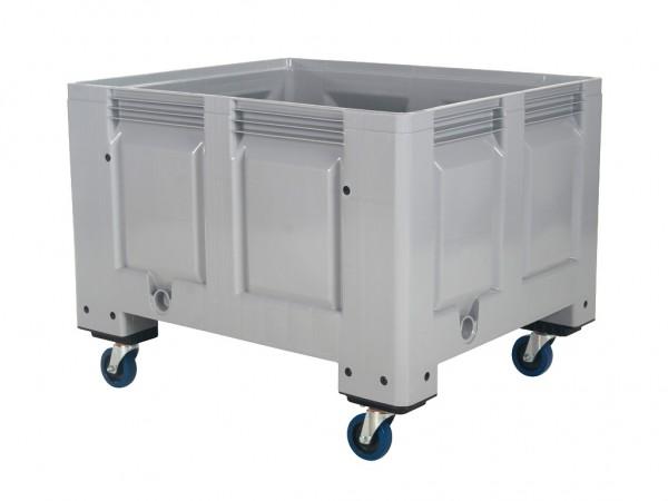 Kunststoff Palettenbox - 1200x1000mm - auf Rollen - Grau