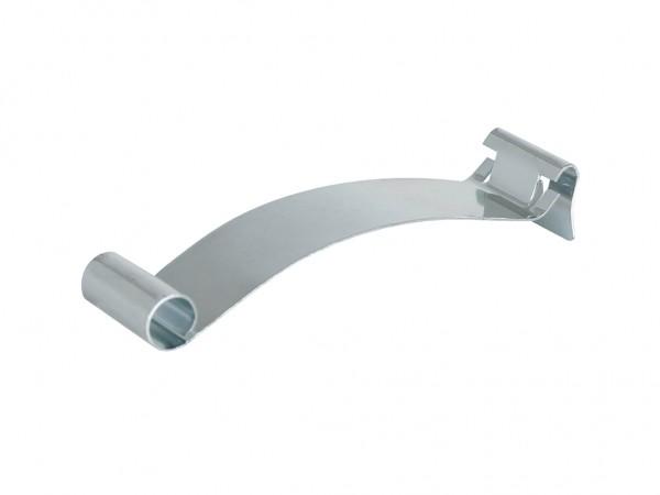Etikettenklammer aus Stahl - 80x21mm - geklemmt