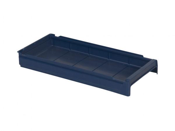 Sichtlagerkasten Kunststoff - 600x230xH100mm - Blau