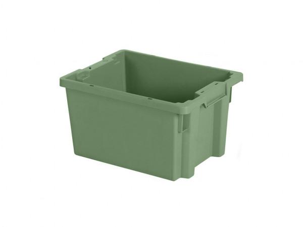 Stapel-nestbarer Behälter - 400x300xH220mm - Grün