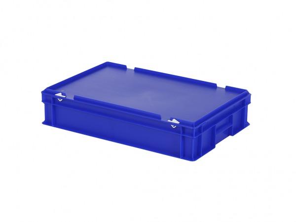 Stapelbehälter mit Deckel - 600x400xH135mm - Blau