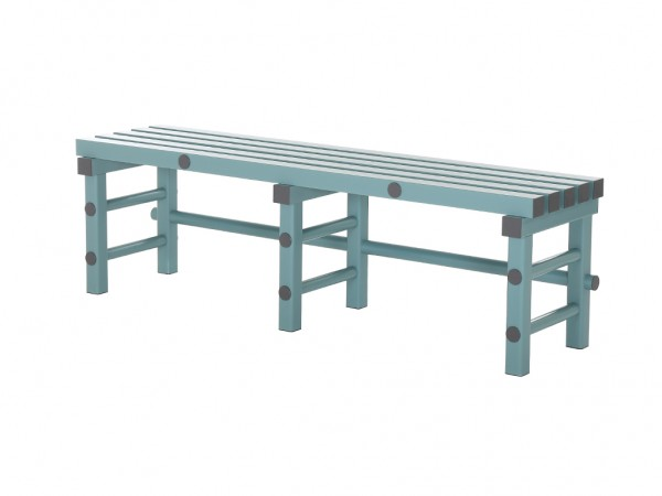 Sitzbank aus Kunststoff - 1500x400xH450mm