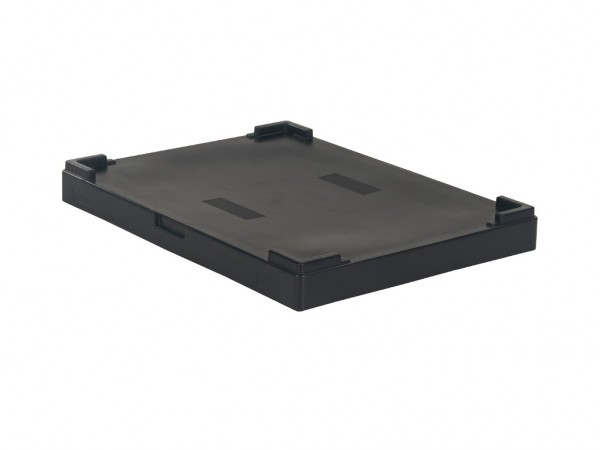 Aufliegedeckel für faltbare Palettenboxen - 800x600mm - Schwarz