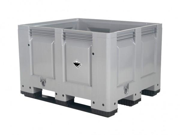 Akkubox - 1200x1000mm - 3 Kufen - Grau