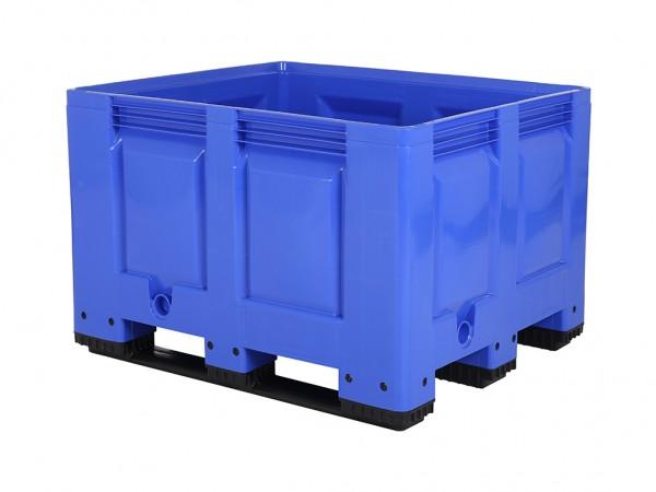Palettenbox - 1200x1000mm - 3 Kufen - Blau