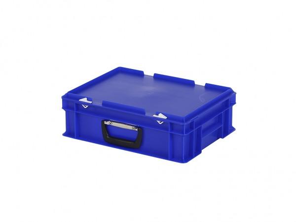 Kunststoffkoffer - 400x300xH133mm - Blau