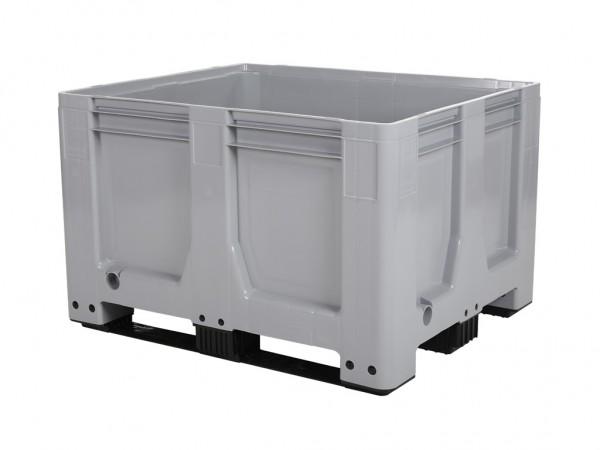 Kunststoff Palettenbox AIR - 1200x1000mm - auf 3 Kufen - Grau