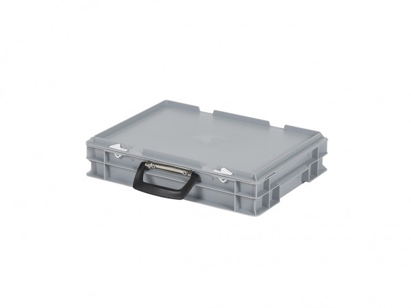 Kunststoffkoffer - 400x300xH90mm - Grau