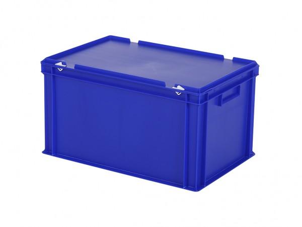 Stapelbehälter mit Deckel - 600x400xH335mm - Blau
