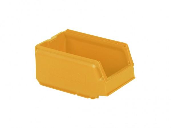 Sichtlagerkasten Kunststoff - 250x148xH130mm - Orange-Gelb