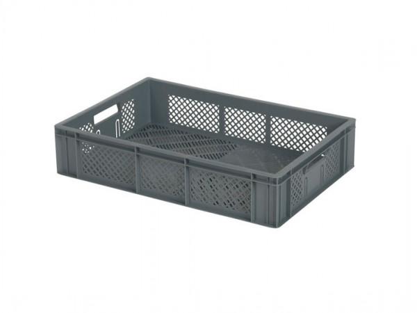 Stapelbehälter durchbrochen - 600x400xH133mm - Grau
