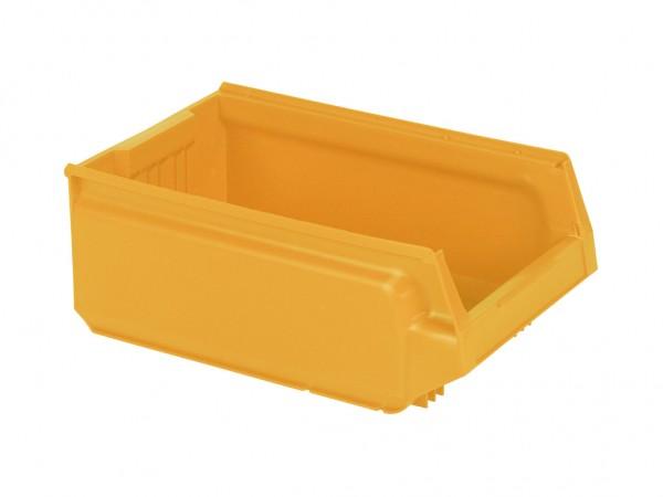 Sichtlagerkasten Kunststoff - 500x310xH200mm - Orange-Gelb