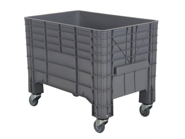Palettenbox - 1040x640mm - auf Rollen - Grau