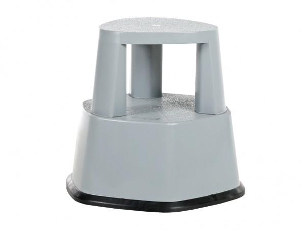 Fahrbarer Tritthocker - Ø480xH430mm - Grau