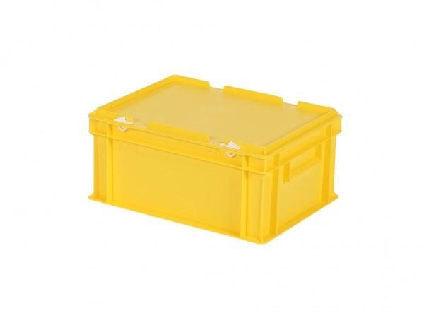 Stapelbehälter mit Deckel - 400x300xH190mm - Gelb