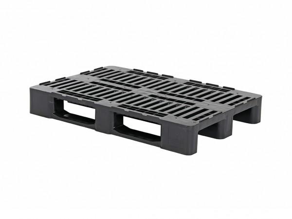 Kunststoff Europalette H1 - 1200x800 mm - Schwarz