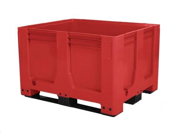 Kunststoff Palettenbox AIR - 1200x1000mm - auf 3 Kufen - Rot