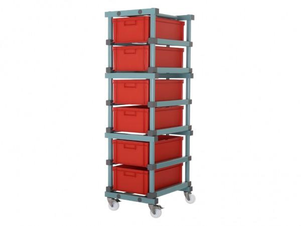 Behälterwagen - für 6 Behälter 600x400mm
