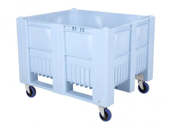 CB3 Palettenbox - 1200x1000mm - auf Rollen - Hellblau