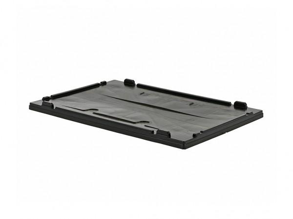 Aufliegedeckel für faltbare Palettenboxen - 1200x800mm - Schwarz